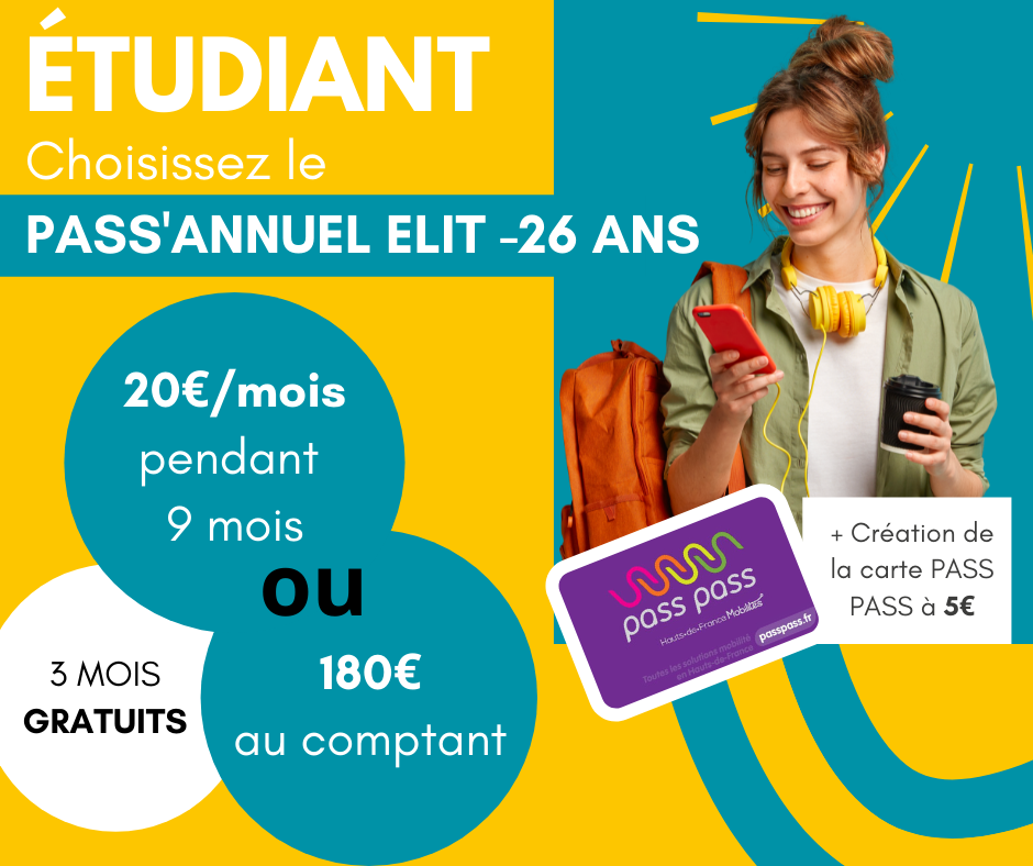 Pass Annuel ELIT -26 ANS