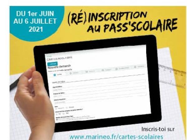 inscription au Pass'Scolaire 2021-2022