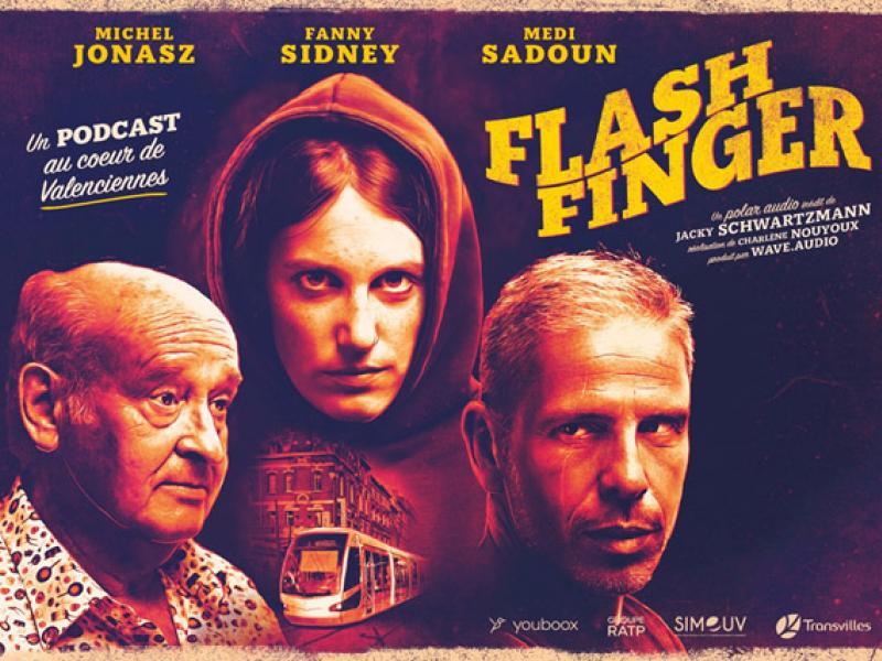 Affiche de Flashfinger le podcast Transvilles