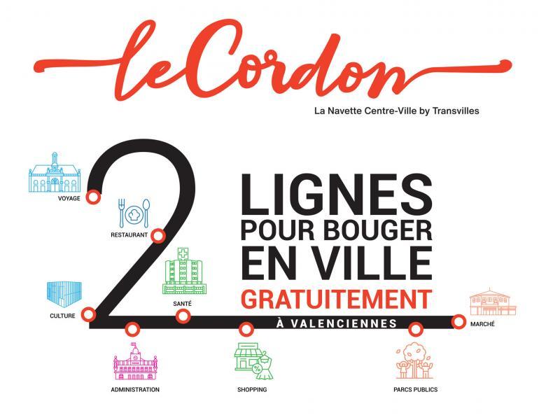 2 lignes Le Cordon pour bouger à Valenciennes