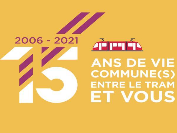 Affiche 15 ans du tramway de Valenciennes