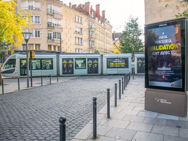 Campagne incitation à la validation du réseau Transvilles de Valenciennes