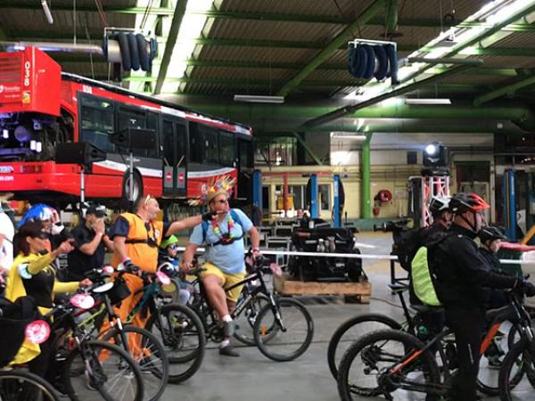 Vélotour 2021 dans l'atelier Saint-Saulve de Transvilles