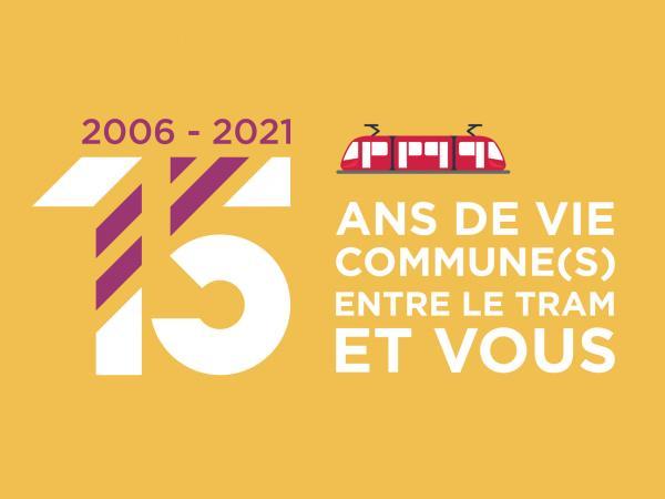 Visuel des 15 ans du tramway